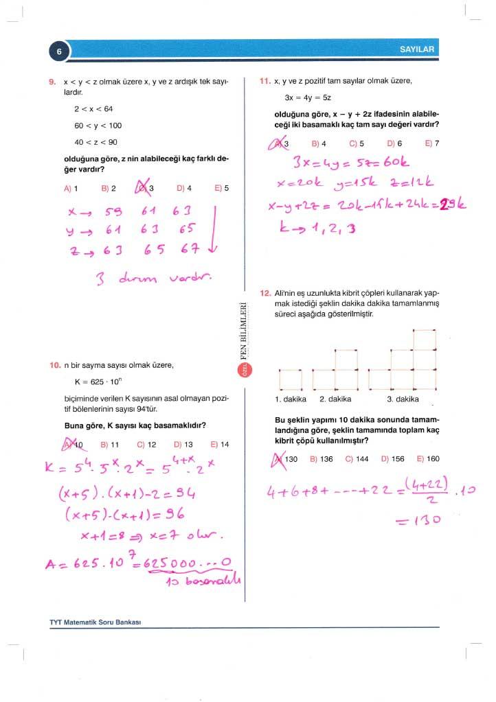TYT-AYT Matematik Konu Anlatımlı Çözümleri - 0006
