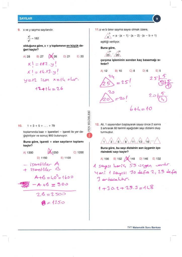 TYT-AYT Matematik Konu Anlatımlı Çözümleri - 0009