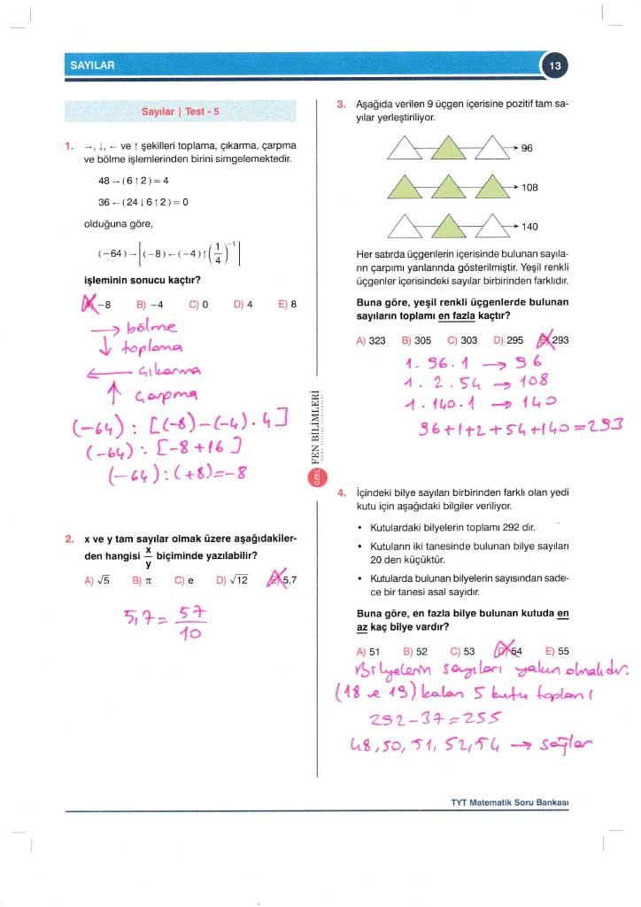TYT-AYT Matematik Konu Anlatımlı Çözümleri - 0013