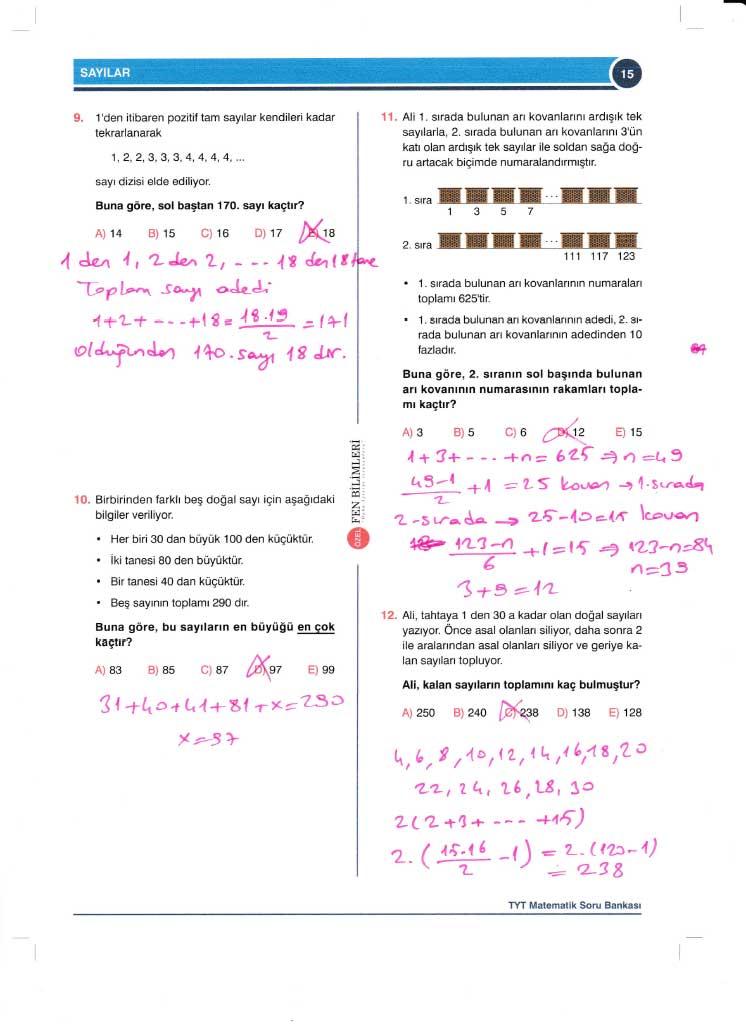 TYT-AYT Matematik Konu Anlatımlı Çözümleri - 0015