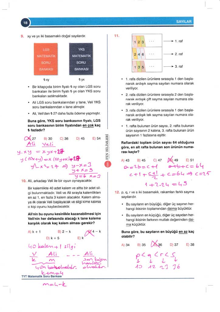 TYT-AYT Matematik Konu Anlatımlı Çözümleri - 0018