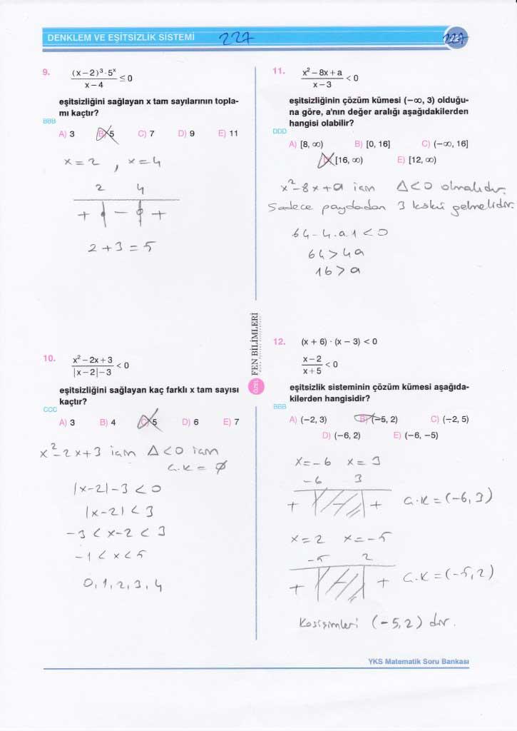 TYT - AYT Matematik Soru ve Çözümleri